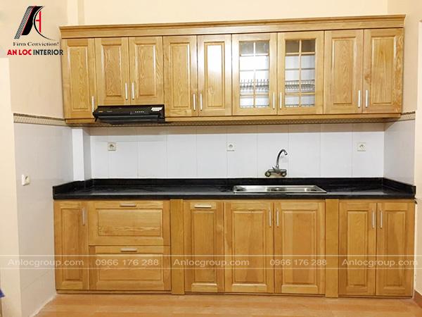 Hình ảnh thực tế phòng bếp gỗ sồi