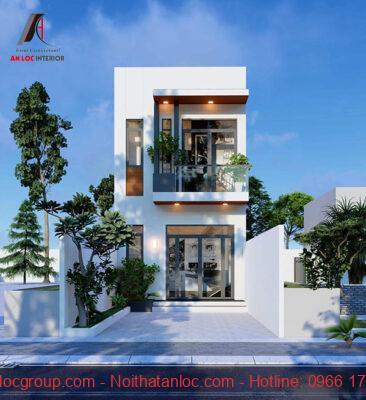 Thiết kế nhà 2 tầng giá rẻ với mặt tiền 4m