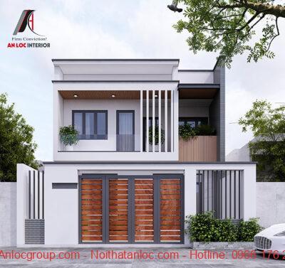 Mẫu thiết kế nhà 2 tầng mặt tiền 6m