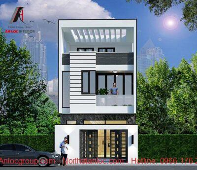 Mẫu thiết kế nhà 2 tầng 7x12m