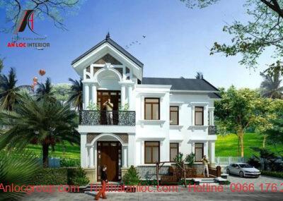 mẫu nhà 2 tầng mái thái nông thôn
