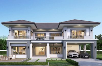 Mẫu nhà 3 gian 2 tầng đẹp