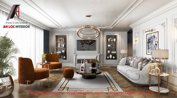 Thiết kế chung cư 90m2 có sự đồng điệu nổi bật, ấn tượng