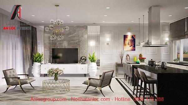 Mẫu nội thất chung cư 90m2 thân thiện với môi trường