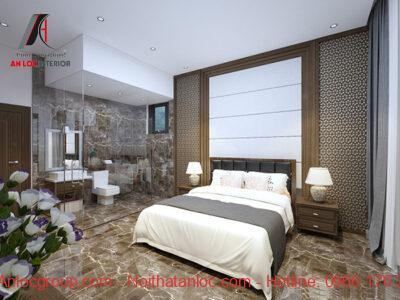 Thiết kế phòng ngủ có nhà vệ sinh