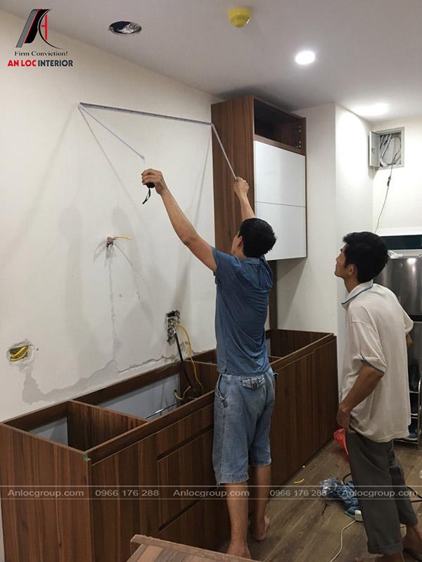 Thi công nội thất phòng bếp hiện đại, ấn tượng