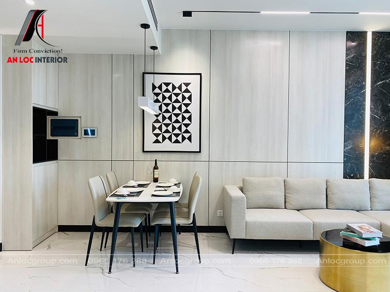 Thi công nội thất căn hộ 82m2 tại Tilia Residences Empire City Thủ Thiêm