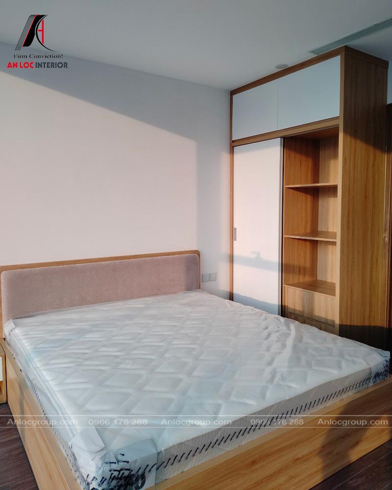 Thiết kế nội thất phòng ngủ master - Ảnh Thi công nội thất căn hộ duplex tại Sunshine City