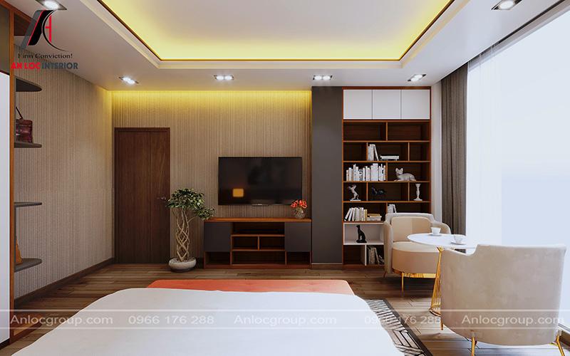 Thiết kế phòng ngủ master nhà phố