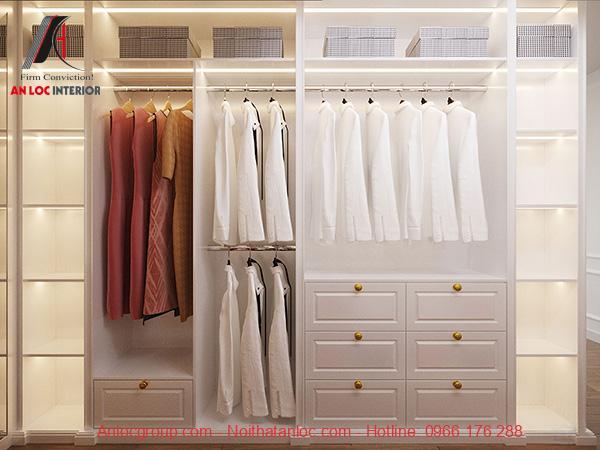 Tủ quần áo âm tường mặt kính