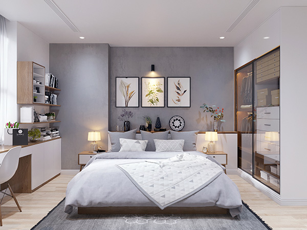 Thiết kế phòng ngủ rộng 40m2