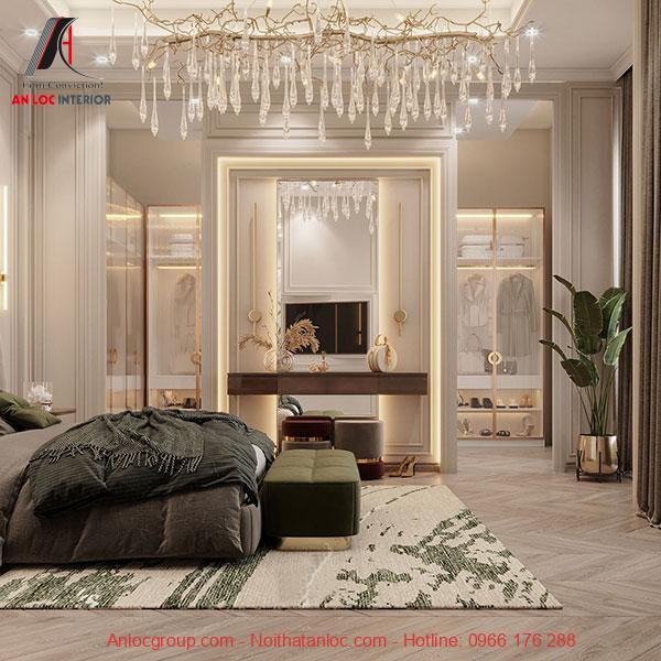 Trang trí phòng ngủ master 40m2