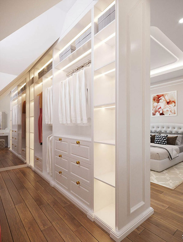Phòng thay đồ trong phòng ngủ
