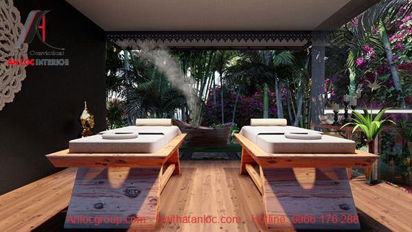 Thiết kế nội thất spa phong cách nhiệt đới
