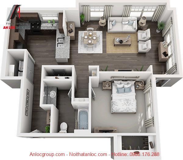 chung cư 1 phòng ngủ hà nội