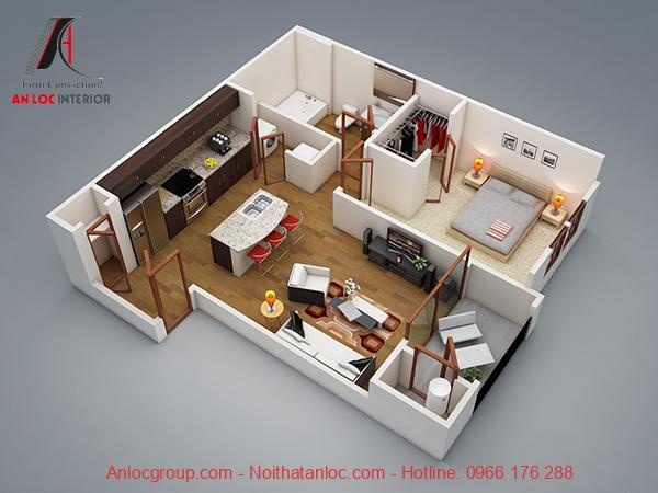 Chung cư mini 1 phòng ngủ