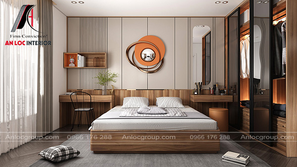 thiết kế căn hộ chung cư 2 phòng ngủ đẹp