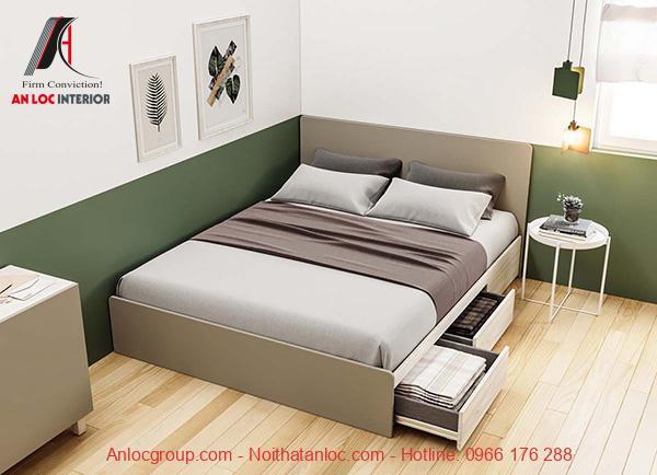 Mẫu giường ngủ có hộc kéo đẹp