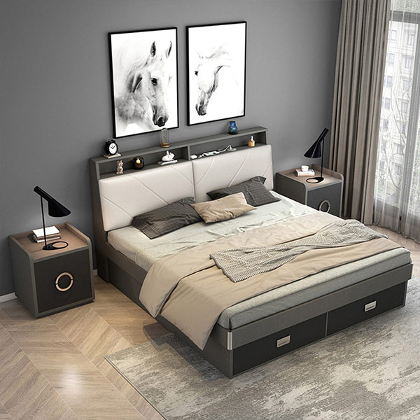Mẫu giường có hộc kéo