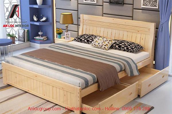 Mẫu giường ngủ có hộc kéo