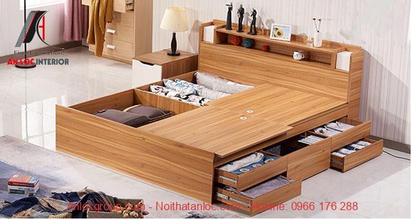 Mẫu giường gỗ công nghiệp An Cường
