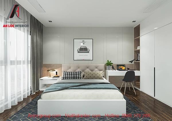 Mẫu giường ngủ gỗ công nghiệp đẹp