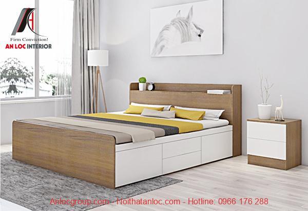 Giường ngủ gỗ công nghiệp MDF
