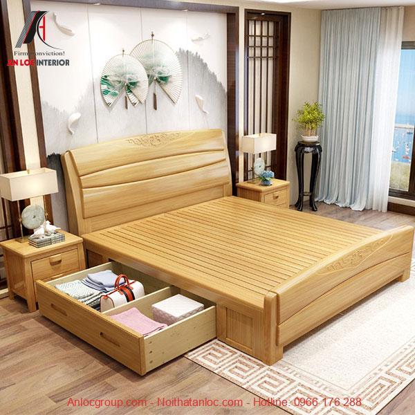 Bộ phòng ngủ gỗ tự nhiên