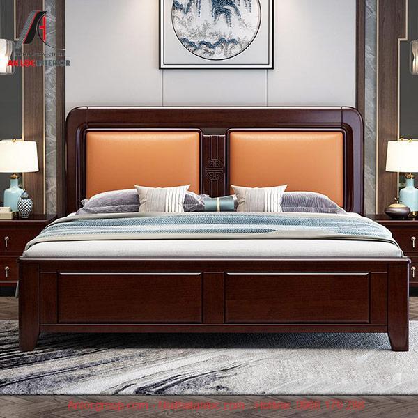 Mẫu giường ngủ gỗ tự nhiên cao cấp