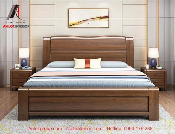 Giường gỗ tự nhiên đẹp