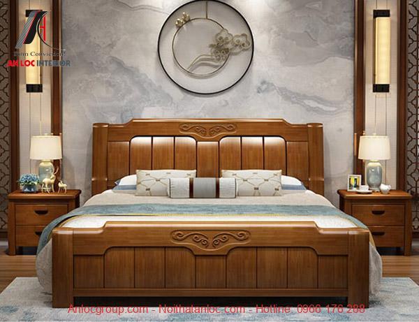 Giường ngủ gỗ tự nhiên đẹp, cao cấp