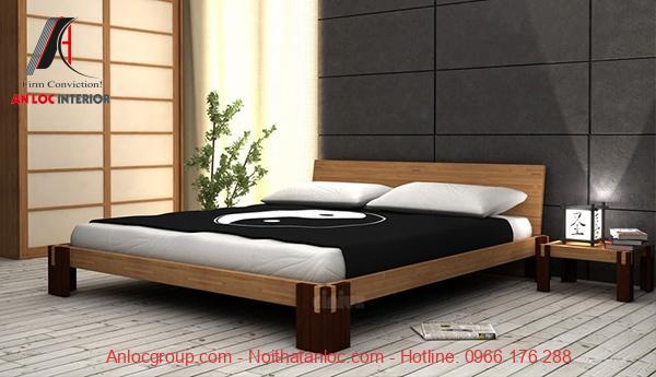 Giường ngủ kiểu Nhật gỗ tự nhiên