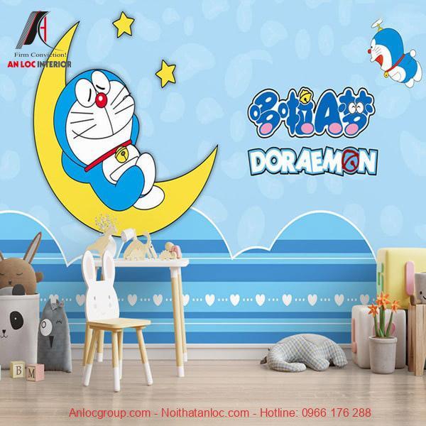Trang trí phòng ngủ hình doremon