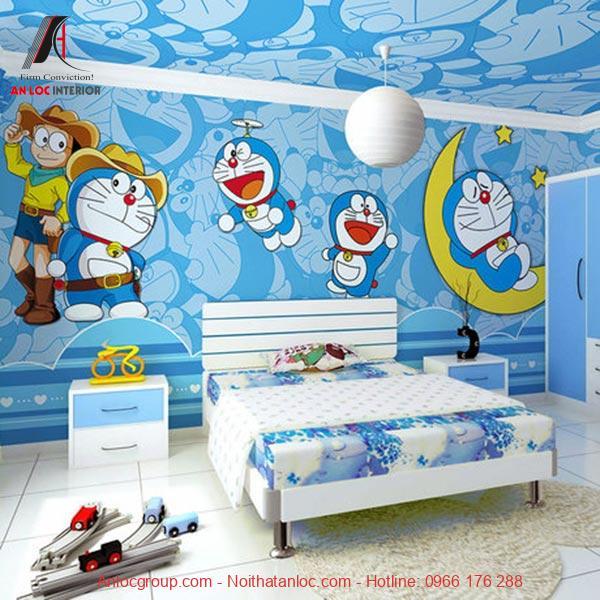 Thiết kế phòng ngủ doremon