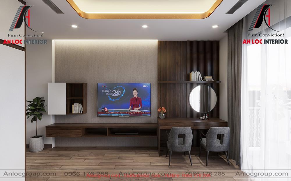 Phòng ngủ master nhà anh Luyến tại Hải Phòng - PA2