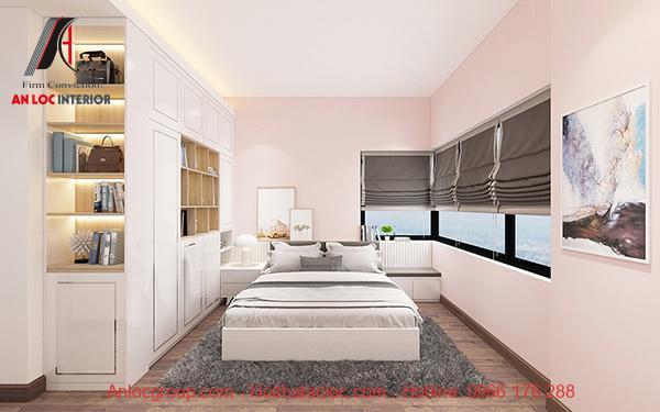 Phòng ngủ màu hồng phấn