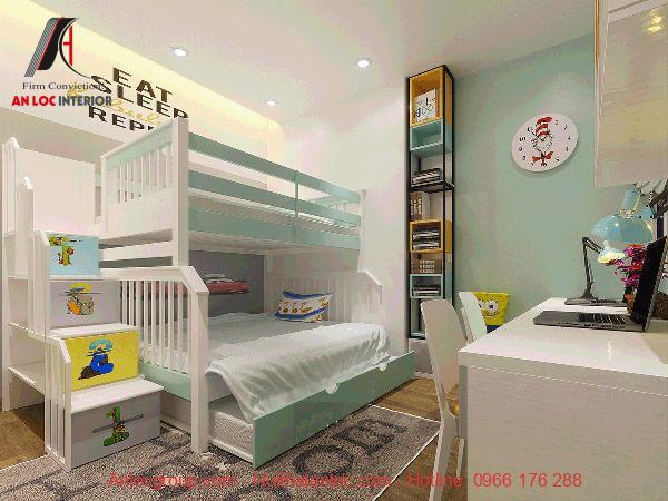 Sơn phòng ngủ màu xanh ngọc