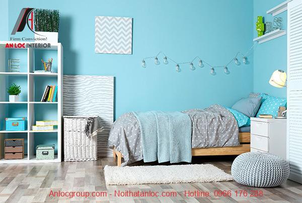 Phòng ngủ xanh ngọc