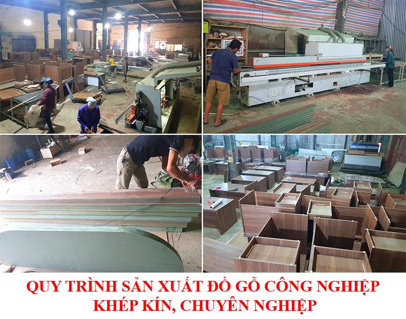 Quy trình sản xuất đồ gỗ công nghiệp khép kín, chuyên nghiệp