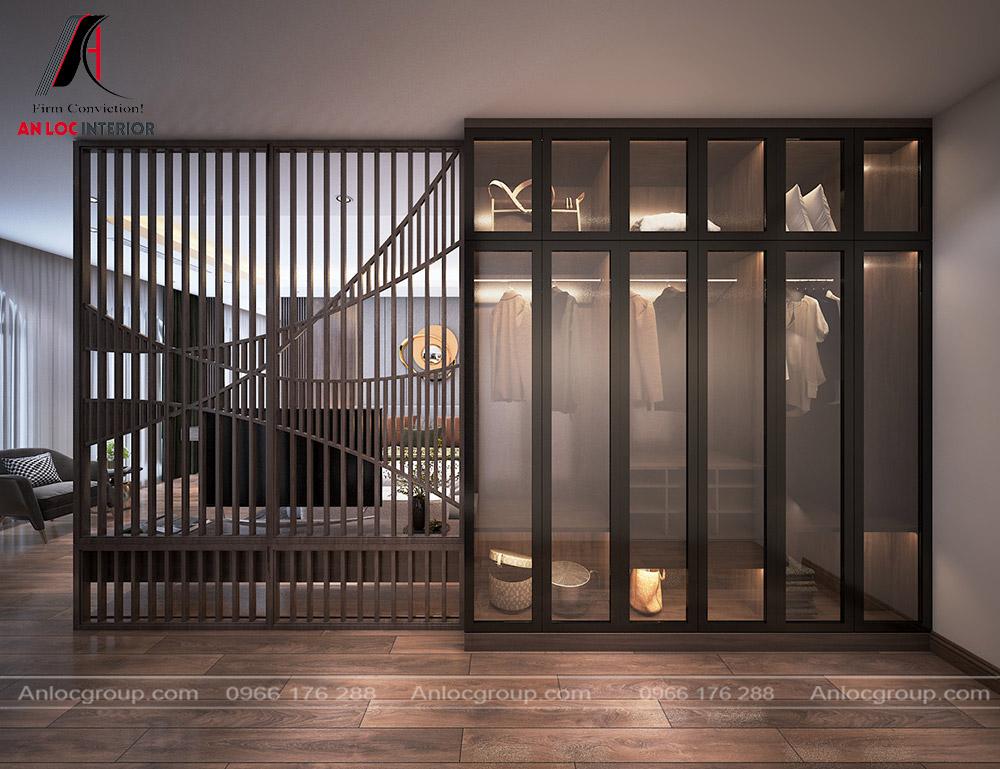 Tầng 4 biệt thự - phòng ngủ master