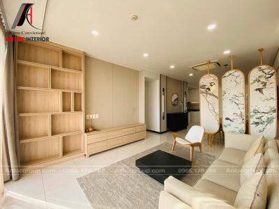 Thi công căn hộ 100m2 chung cư One Verandah phong cách Nhật