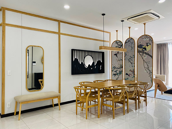 Thi công nội thất căn hộ 100m2 tại One Verandah phong cách Nhật