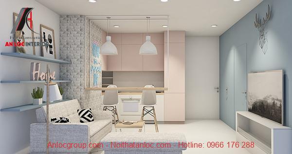 Thiết kế phòng khách căn hộ đẹp