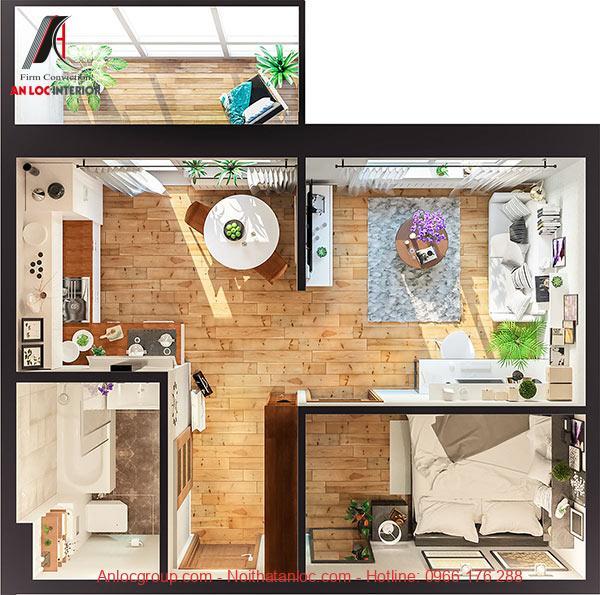 Mẫu thiết kế căn hộ 35m2