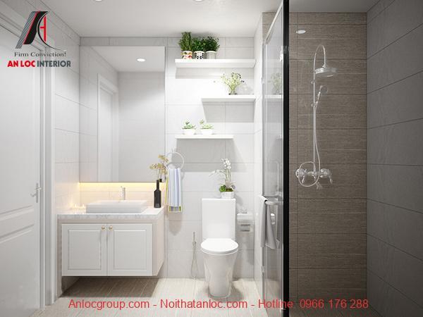 Nội thất phòng tắm chung cư 46m2