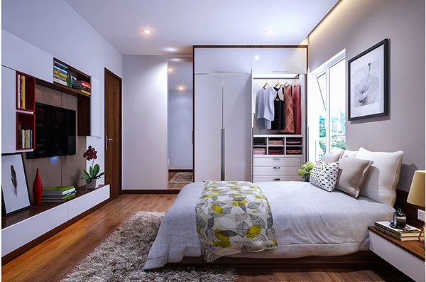 Tủ quần áo âm tường phòng ngủ