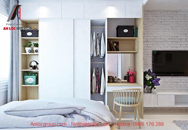 Nội thất phòng ngủ hiện đại, sang trọng