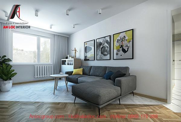 Sofa phòng khách kiểu dáng chữ L