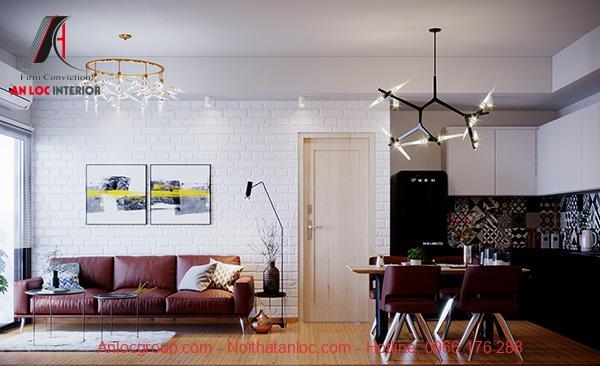 Thiết kế nội thất căn hộ 53m2