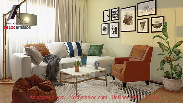 Thiết kế căn hộ 53m2